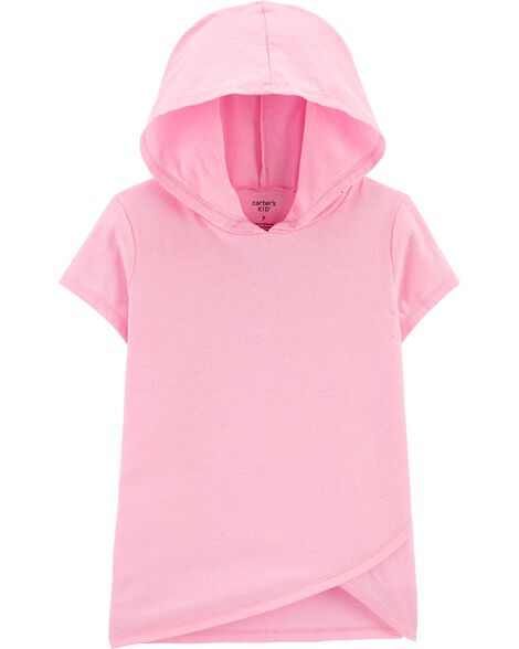 Neon Glitter Hooded Jersey Tee