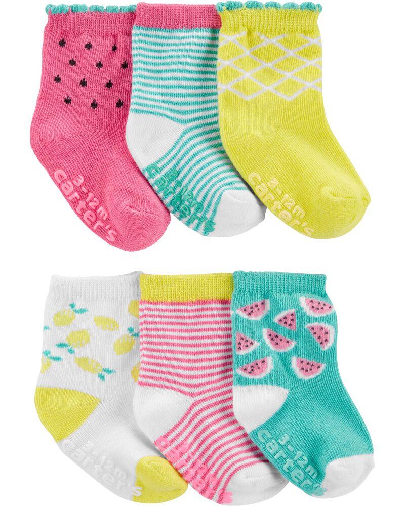6 paires de chaussettes tube, , hi-res