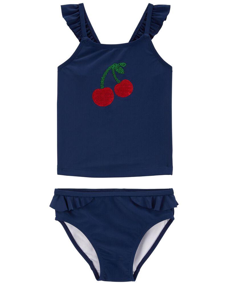 Cherry Ruffle Tankini, , hi-res