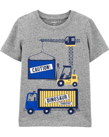 Construction Peek-A-Boo Jersey Tee