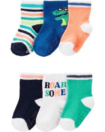 6 paires de chaussettes à motif din...