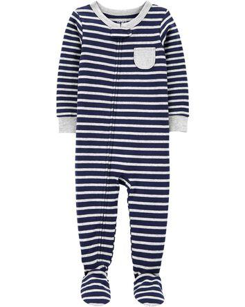 Pyjama 1 pièce rayé avec pieds en c...