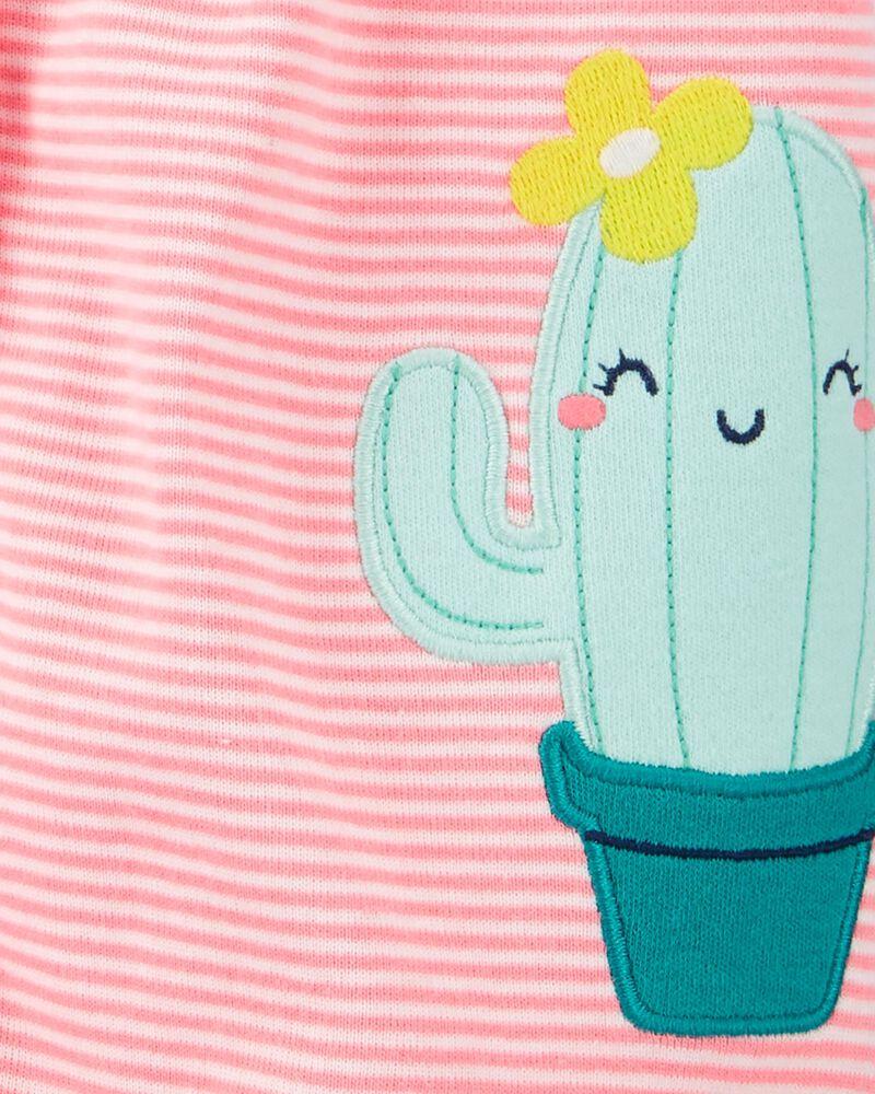 Barboteuse à boutons-pression et cactus, , hi-res