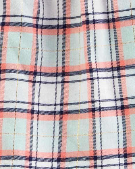 2-Piece Plaid Flannel Top & Legging Set