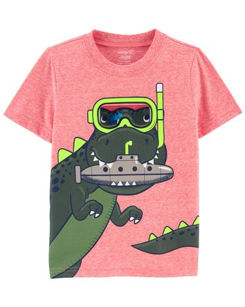 Dinosaur Snow Yarn Tee
