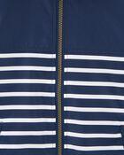 Colourblock Stripe Lightweight Windbreaker Jacket, , hi-res