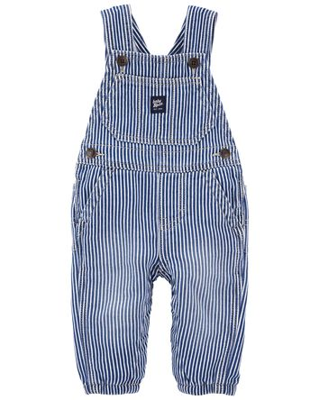 Hickory Stripe Stretch Overalls