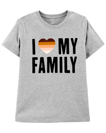 T-shirt pour femme I Love My Family...