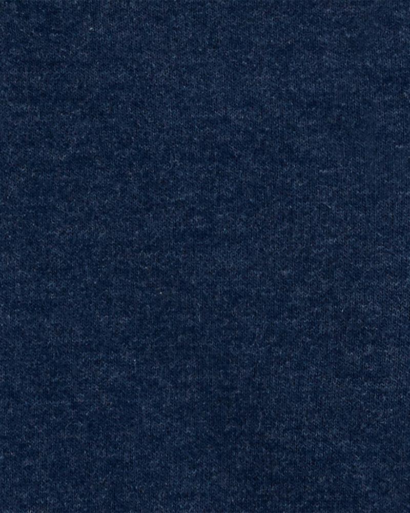 Kangourou en jersey bouclette à glissière, , hi-res