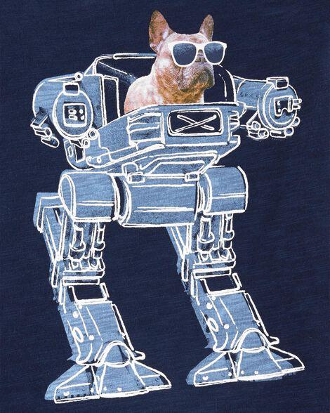 French Bulldog Robot Slub Jersey Tee
