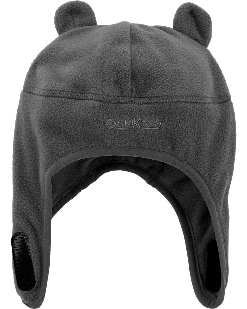 Fleece Hat With Chinstrap, , hi-res