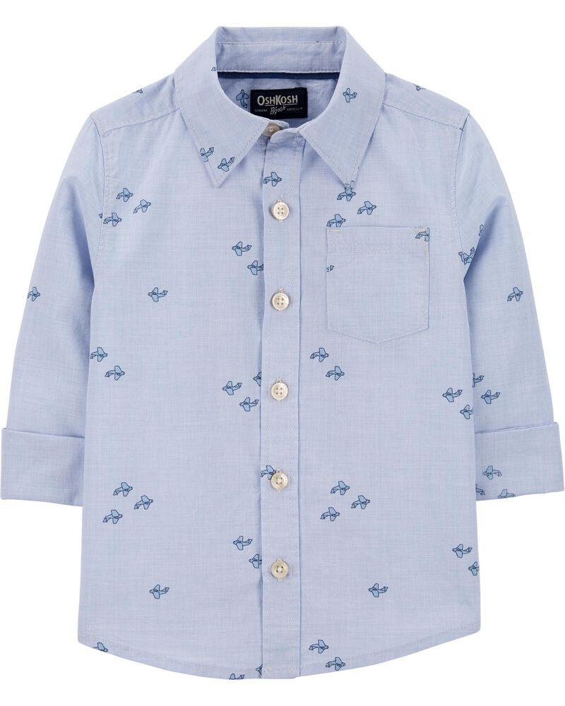 Chemise boutonnée à avions, , hi-res