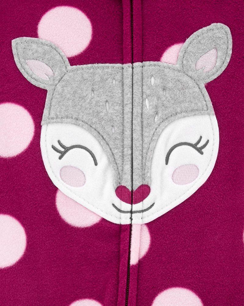 1-Piece Deer Fleece Footless PJs, , hi-res