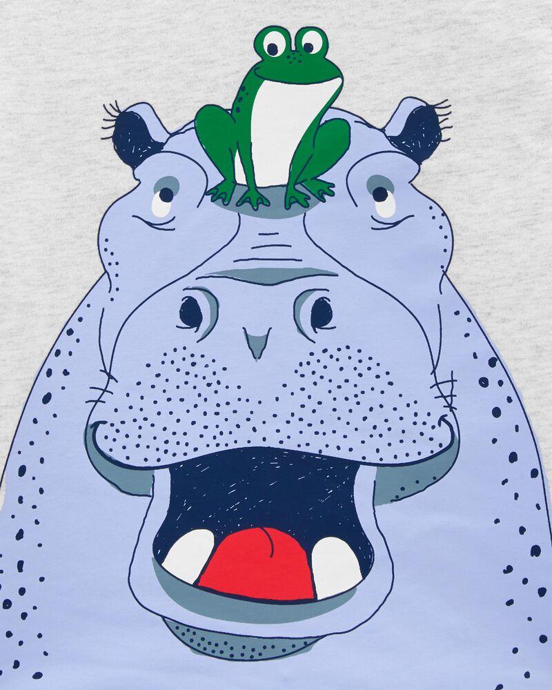 T-shirt en jersey à hippopotame, , hi-res