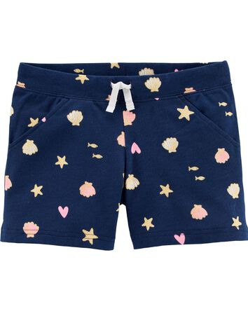 Seashell Pull-On French Terry Short...
