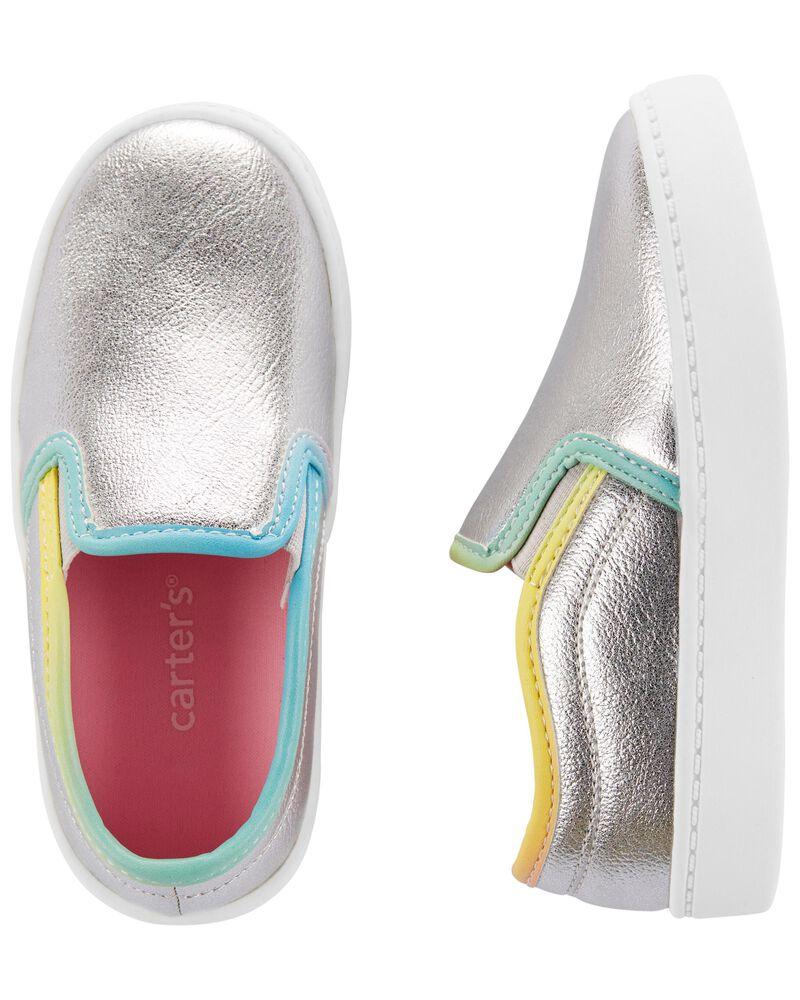 Metallic Slip-On Shoes, , hi-res