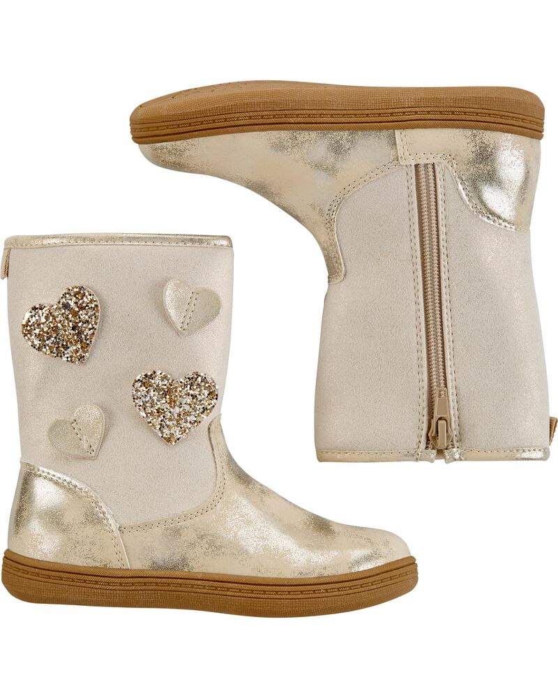 Pull-On Heart Boots, , hi-res