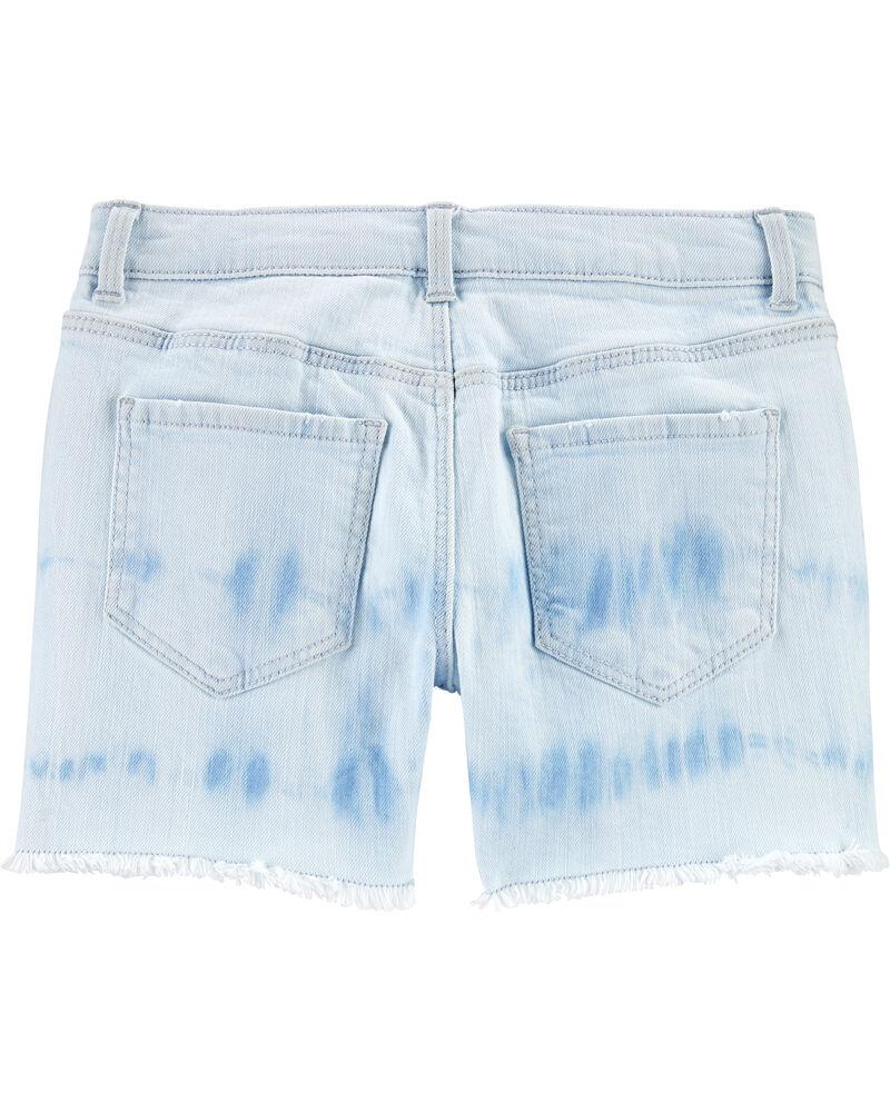 Tie-Dye Stretch Denim Shorts, , hi-res