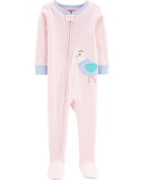 1-Piece Chicken Snug Fit Cotton Footie PJs