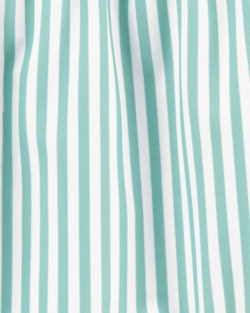 Striped 1-Piece Swimsuit, , hi-res