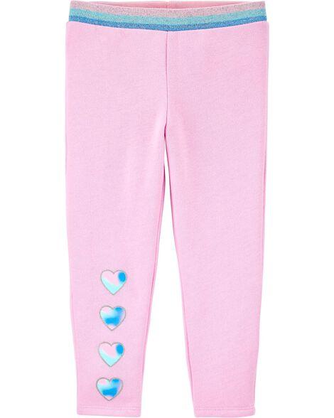 Heart Pull-On Fleece Pants