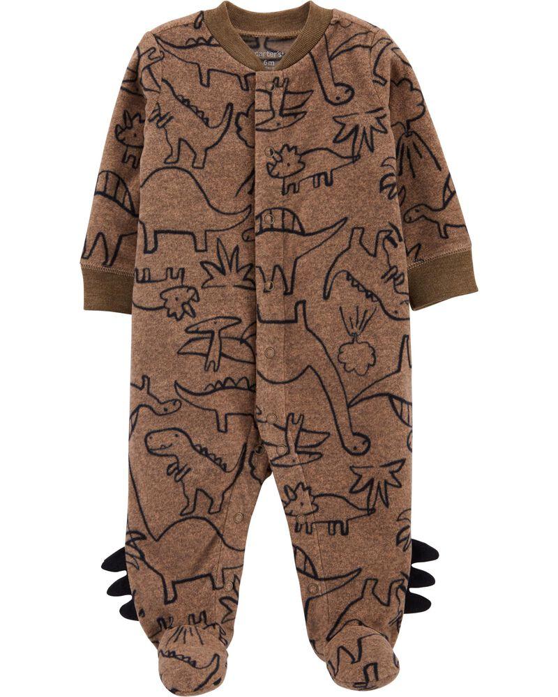 Dinosaur Snap-Up Fleece Sleep & Play, , hi-res