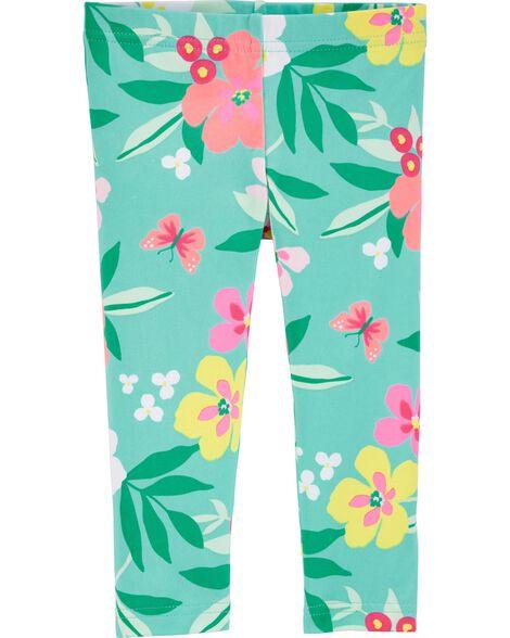 Tropical Floral Capri Leggings