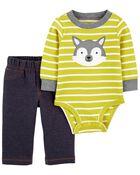 2-Piece Husky Bodysuit Pant Set, , hi-res