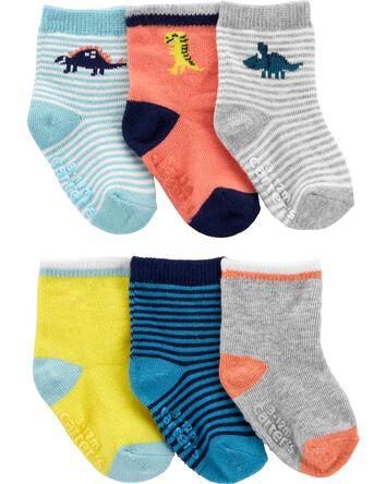 6 paires de chaussons dinosaure