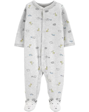 Giraffe Snap-Up Cotton Sleep & Play