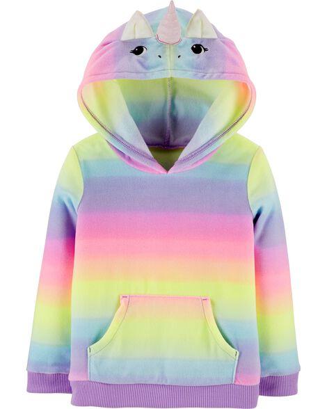 Unicorn Pullover Fleece Hoodie