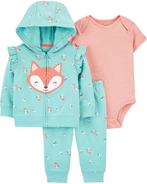 3-Piece Fox Little Jacket Set