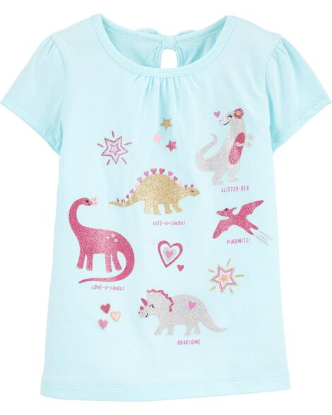 T-shirt en jersey avec dinosaure et nœud au dos