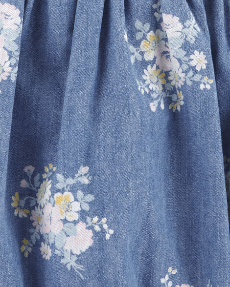Floral Chambray Bodysuit