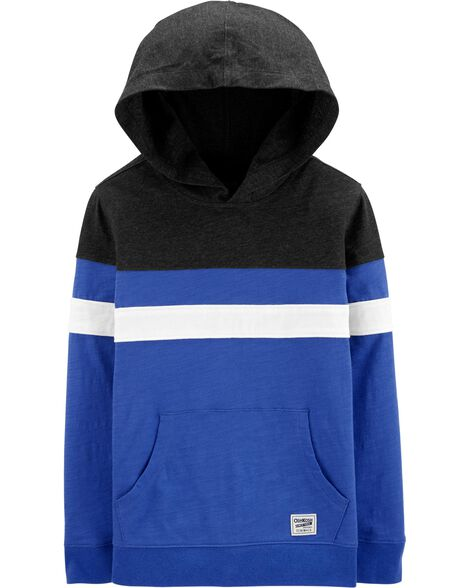 Hooded Colorblock Pullover