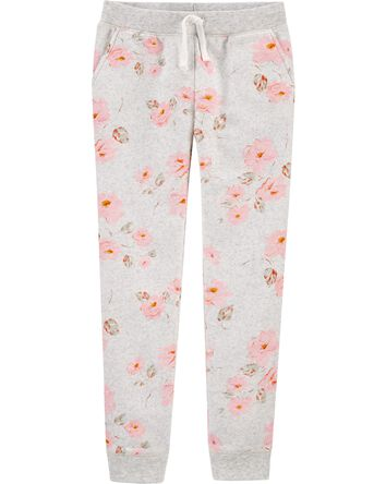Floral Logo Fleece Pants