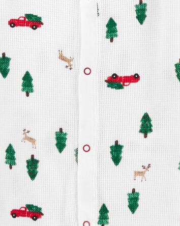 Pyjama 1 pièce en molleton sans pie...