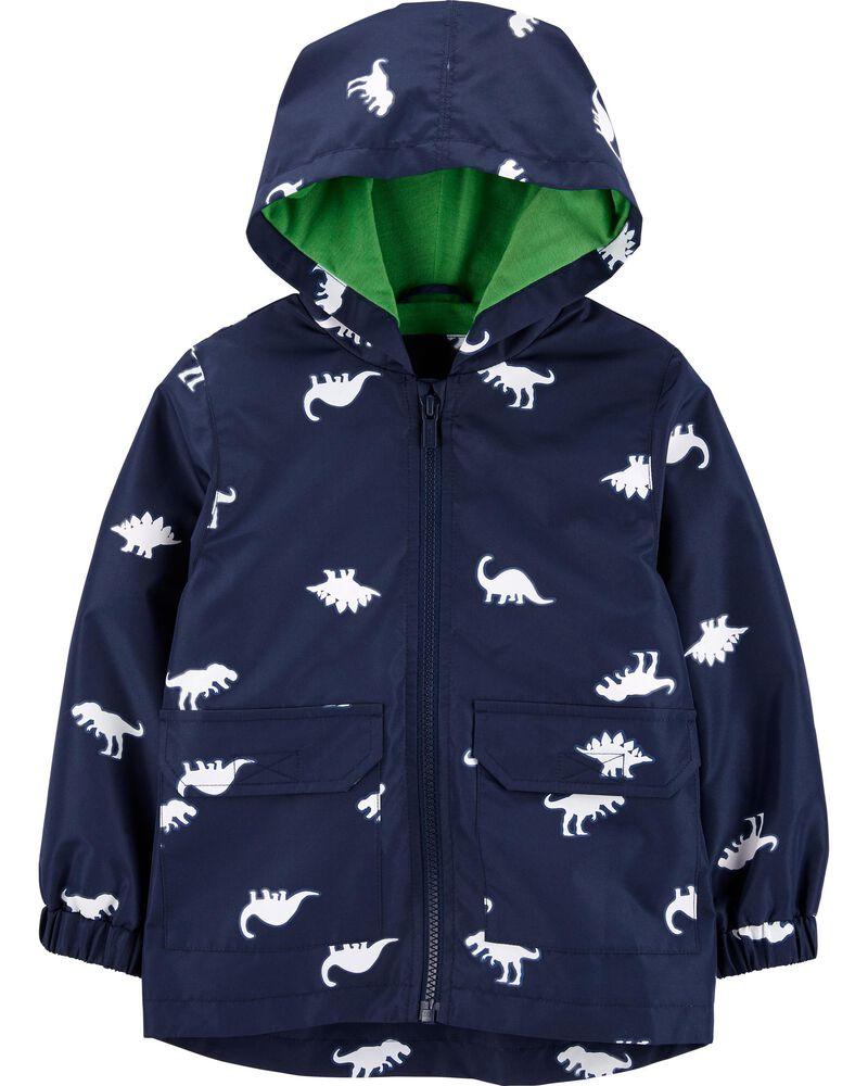 Dinosaur Colour-Changing Raincoat, , hi-res