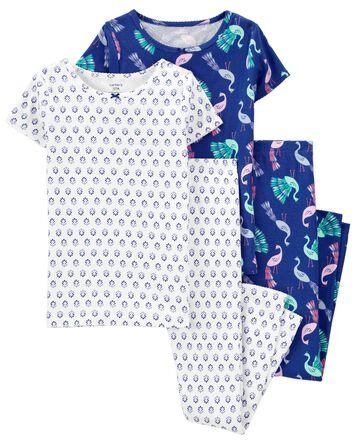 Pyjama 4 pièces en coton ajusté pao...