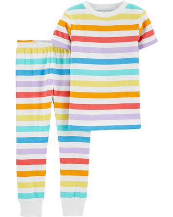 2-Piece Rainbow 100% Snug Fit Cotto...