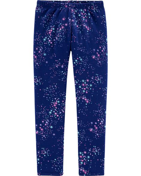 Starry Boa Fleece Leggings