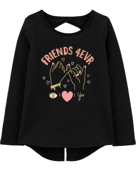 Friends Forever Split Back Tee