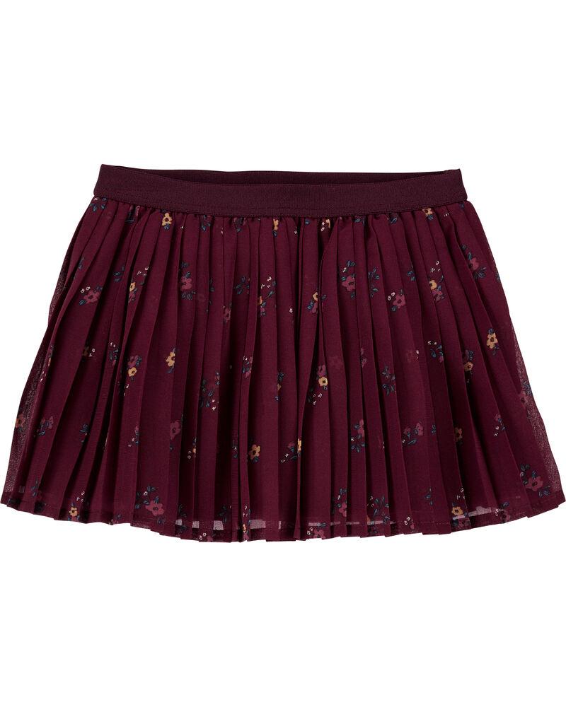 Pleated Chiffon Skirt, , hi-res