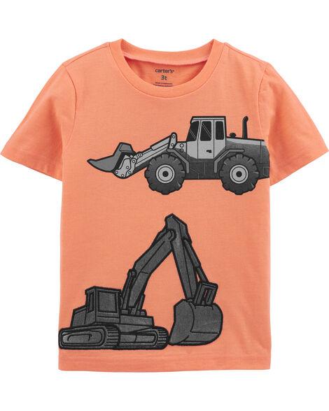 T-shirt en jersey chiné camion de construction