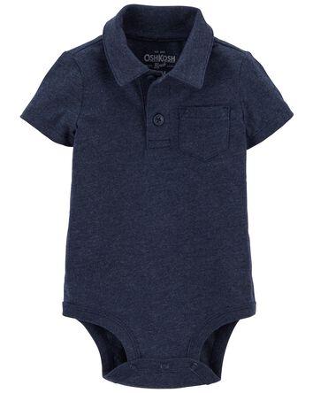 Pocket Polo Bodysuit