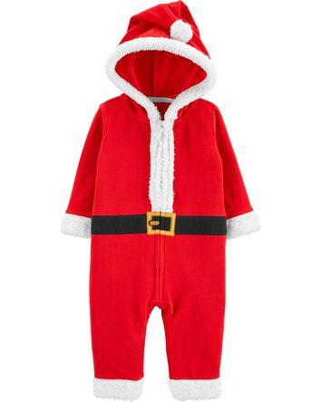 Santa Zip-Up Jumpsuit