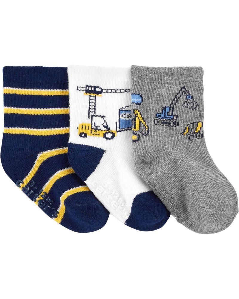 3 paires de chaussettes de construction, , hi-res