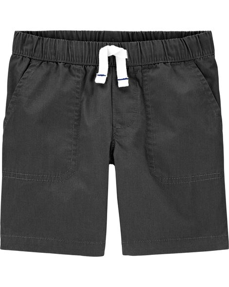 Short à enfiler en popeline