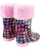 Fleece-Lined Rain Boots, , hi-res