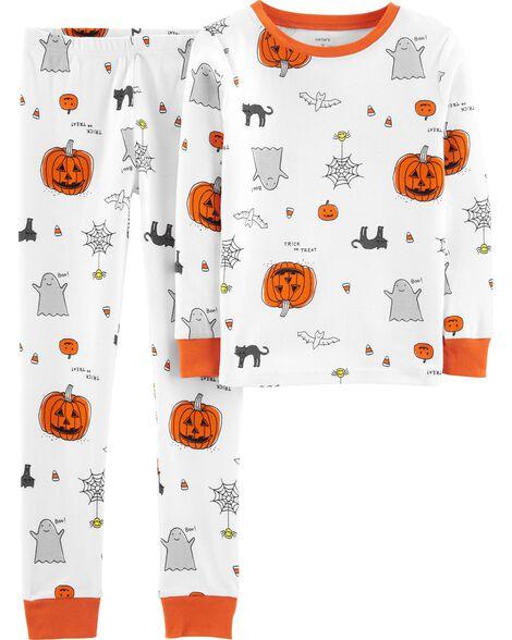 Pyjama d'Halloween 2 pièces en coton ajusté